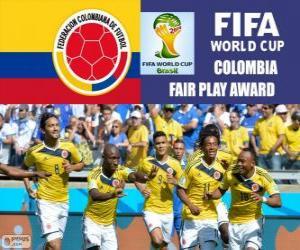 Puzzle de Colombia, Premio Fair Play. Mundial de Fútbol Brasil 2014