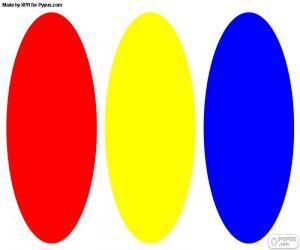 Puzzle de Colores primarios