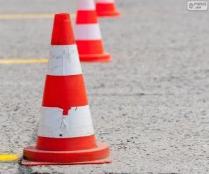 Puzzle de Cono de tráfico, señal de seguridad vial