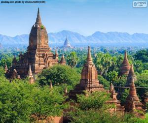 Puzzle de Construcciones religiosas de Bagan