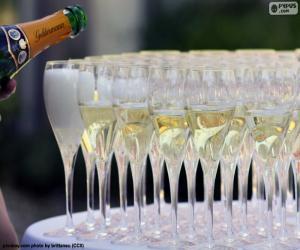 Puzzle de Copas de Champagne