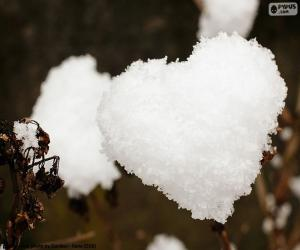 Puzzle de Corazón de nieve