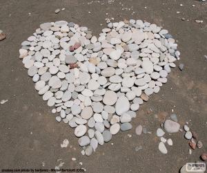 Puzzle de Corazón de piedras
