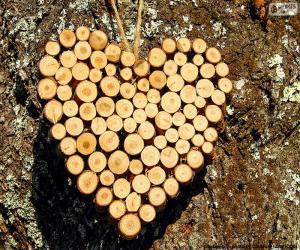 Puzzle de Corazón de troncos