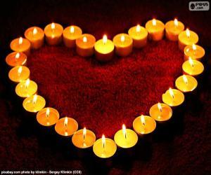 Puzzle de Corazón de velas