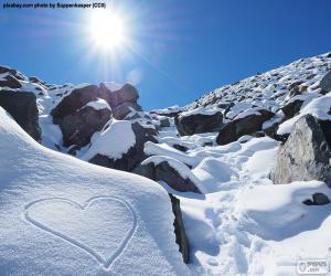 Puzzle de Corazón en la nieve
