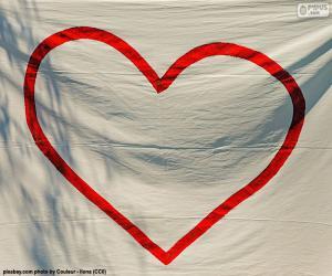 Puzzle de Corazón pintado