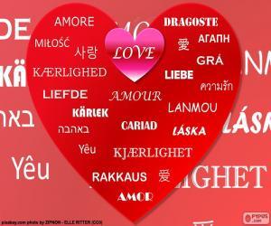 Puzzle de Corazón del amor
