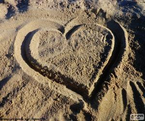 Puzzle de Corazón en la playa