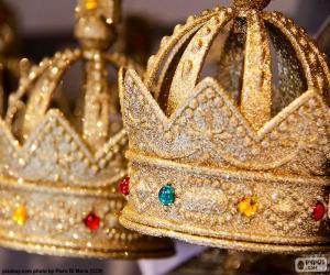 Puzzle de Corona del rey o corona real abierta