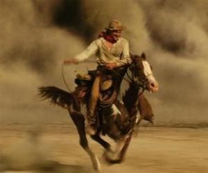 Puzzle de Cowboy o vaquero cabalgando