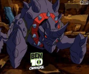 Puzzle de Crabdozer es un alien del Nemetrix, Ben 10 Omniverse