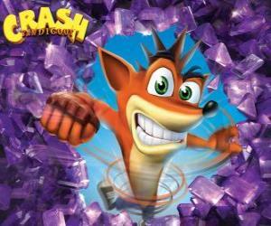 Puzzle de Crash Bandicoot, protagonista de los videojuegos de Crash Bandicoot