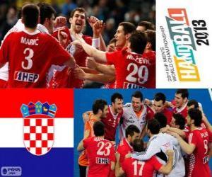 Puzzle de Croacia medalla de Bronce en el Mundial de Balonmano 2013
