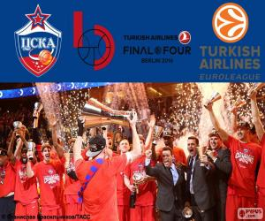 Puzzle de CSKA,campeón Euroliga 2016