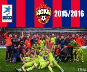 Puzzle de CSKA Moscú, campeón 2015-16
