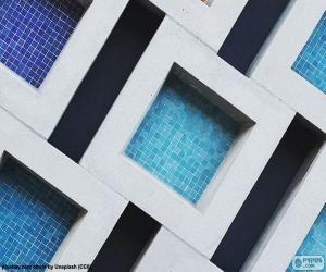 Puzzle de Cuadrado, polígono regular de cuatro lados