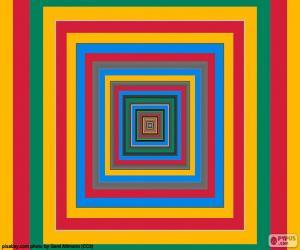 Puzzle de Cuadrados concéntricos