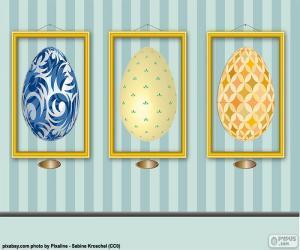 Puzzle de Cuadros de huevos de Pascua