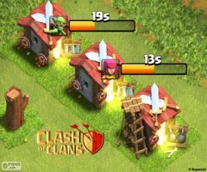 Puzzle de Cuarteles de Clash of Clans