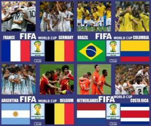 Puzzle de Cuartos de final, Brasil 2014