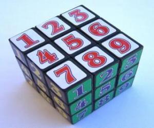 Puzzle de Cubo de Rubik con  números