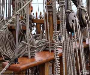 Puzzle de Cuerdas y poleas de barco
