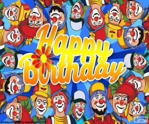 Puzzle de Cumpleaños feliz con payasos