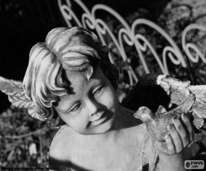 Puzzle de Cupido de piedra