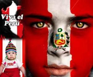 Puzzle de Día de la Independencia del Perú, 28 de julio. Conmemora la Declaración de la Independencia de España en 1821