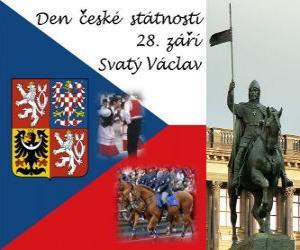 Puzzle de Día de la Patria checa. 28 septiembre, San Wenceslao, patrón de la República Checa