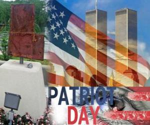Puzzle de Día del Patriota, 11 de septiembre en los Estados Unidos, en memoria de los atentados del 11 de septiembre de 2001