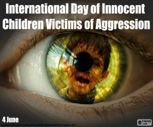 Puzzle de Día Internacional de los Niños Víctimas Inocentes de Agresión