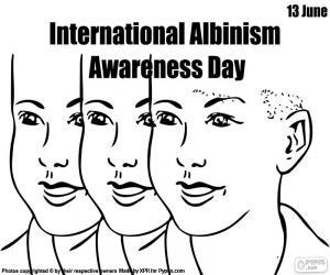 Puzzle de Día Internacional de Sensibilización sobre el Albinismo