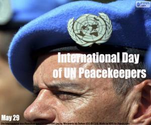 Puzzle de Día Internacional del Personal de Paz de la ONU