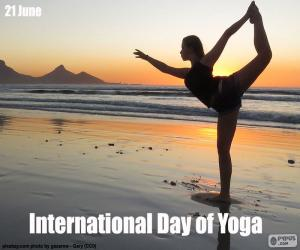 Puzzle de Día Internacional del Yoga
