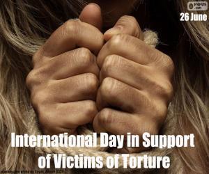 Puzzle de Día Internacional en Apoyo de las Víctimas de la Tortura