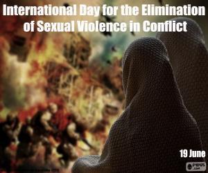 Puzzle de Día Internacional para la Eliminación de la Violencia Sexual en los Conflictos