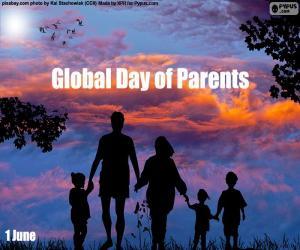 Puzzle de Día Mundial de las Madres y los Padres
