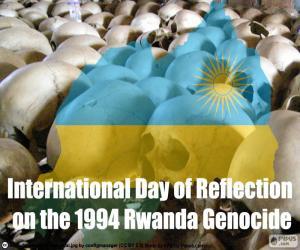 Puzzle de Día de Reflexión sobre el Genocidio cometido en Ruanda