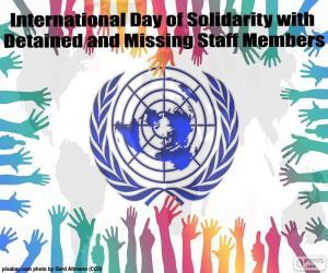 Puzzle de Día Internacional de Solidaridad con los miembros del personal detenidos o desaparecidos