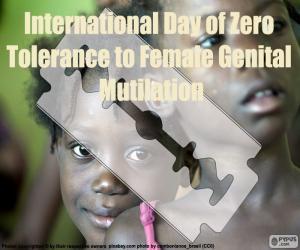 Puzzle de Día Internacional de Tolerancia Cero con la Mutilación Genital Femenina