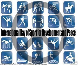 Puzzle de Día Internacional del Deporte para el Desarrollo y la Paz