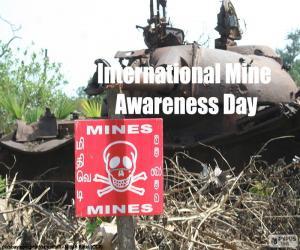 Puzzle de Día Internacional sobre el Peligro de las Minas