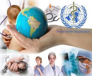 Puzzle de Día Mundial de la Salud, en conmemoración de la fundación de la OMS el 7 de abril de 1948