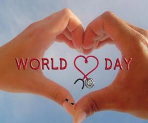 Puzzle de Día Mundial del Corazón, el último domingo de septiembre se organizan actividades para mejorar la salud y reducir los riesgos