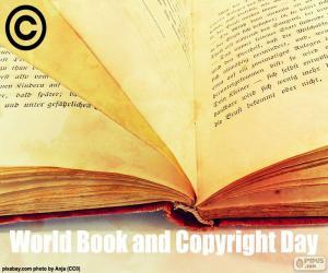 Puzzle de Día Mundial del Libro y del Derecho de Autor