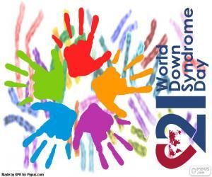 Puzzle de Día Mundial del Síndrome de Down