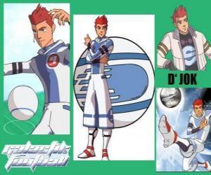 Puzzle de D'jok es la estrella del equipo de los Snow Kids , tiene el número 9