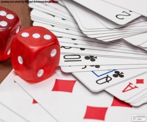 Puzzle de Dados y cartas